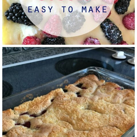 Easy Blackberry Cobbler Recipe | Fluffy Cake like berry cobbler! Easy to make. Fresh berries or frozen. Grab the recipe on TodayscreativeLife.com