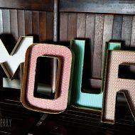 diy designer letters