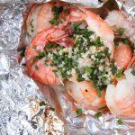 grilled shrimp | Lemon Butter, Garlic Chive grilled Shrimp | Tin foil meal | TodaysCreativeLife.com