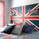 union jack diy headboard