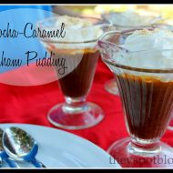 Caramel Pudding with Graham and Mocha