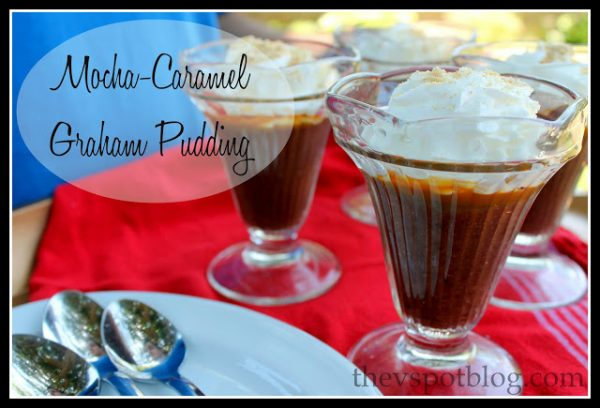 Caramel Pudding Recipe | This Mocha Caramel Graham Pudding Recipe will be ready in 15 min. Quick and easy dessert ideas for summer. | TodaysCreativeLife.com