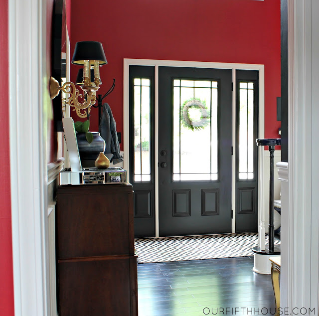 accent painting - interior door painted black