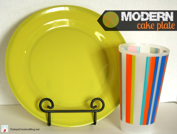 diy cake plate | TodaysCreativeBlog.net