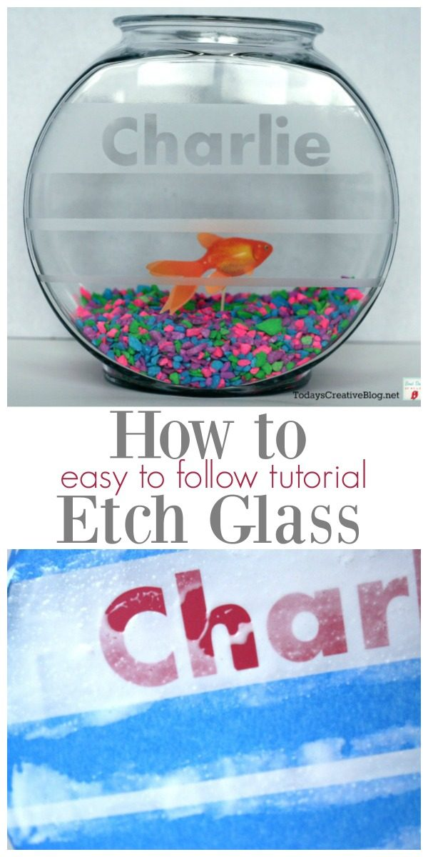 How to Etch Glass | This step by step tutorial will teach you how easy this DIY craft is. Etch on any smooth glass surface for creative home decor or gift ideas.