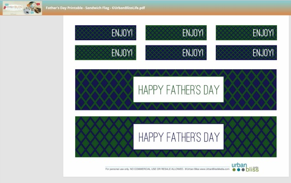free father's day printables | todayscreativeblog.net