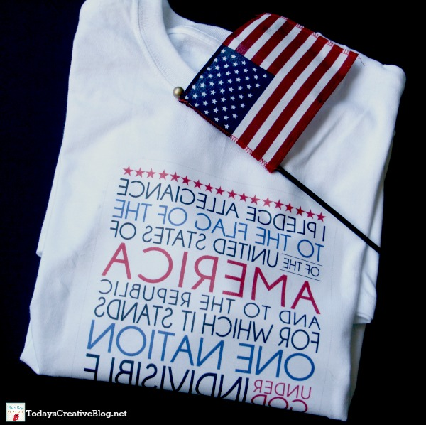 iron on 4th of july tshirt