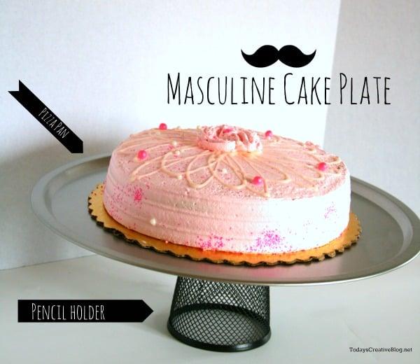 diy cake plate | Masculine Cake Plate | TodaysCreativeBlog.net & DIY Cake Plate | Todayu0027s Creative Life