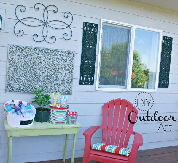 Exterior Wall Art outdoor wall art {diy} | today's creative life
