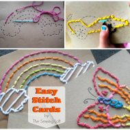 DIY Easy Stitch Cards for Children
