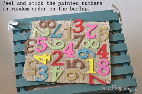 DIY Number Art | Easy to make wall art by Beneath Your Heart for Today's Creative Life | DIY Decor | Inexpensive budget friendly decor | Colorful | TodaysCreativeLIfe.com
