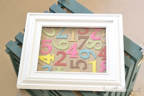 DIY Number Art | Easy to make wall art by Beneath Your Heart for Today's Creative Life | DIY Decor | Inexpensive budget friendly decor | Colored Numbers | TodaysCreativeLIfe.com