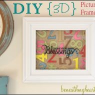 DIY Number Wall Art | Budget Friendly Home Decor