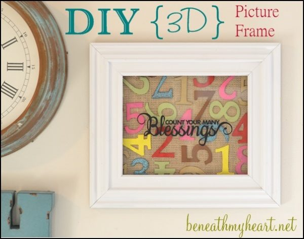 DIY Number Art | Easy to make wall art by Beneath Your Heart for Today's Creative Life | DIY Decor | Inexpensive budget friendly decor | Easy Craft Idea | TodaysCreativeLIfe.com