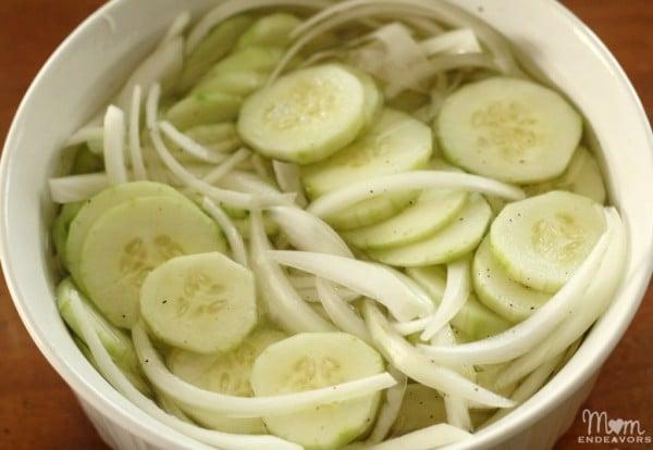Vinegar Cucumbers Salad Recipe   Find more recipes on TodaysCreativeBlog.net