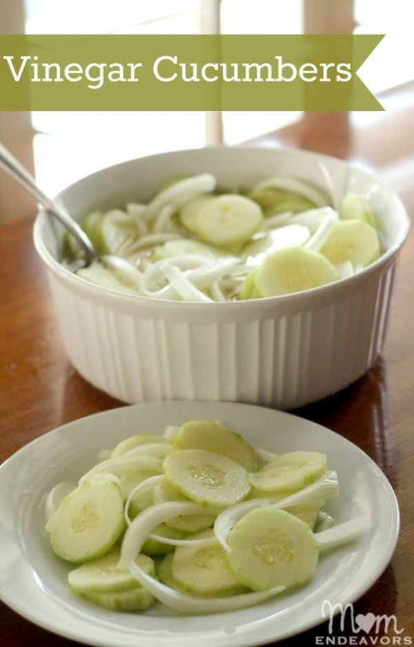 Vinegar Cucumbers Salad Recipe | Find more recipes on TodaysCreativeBlog.net
