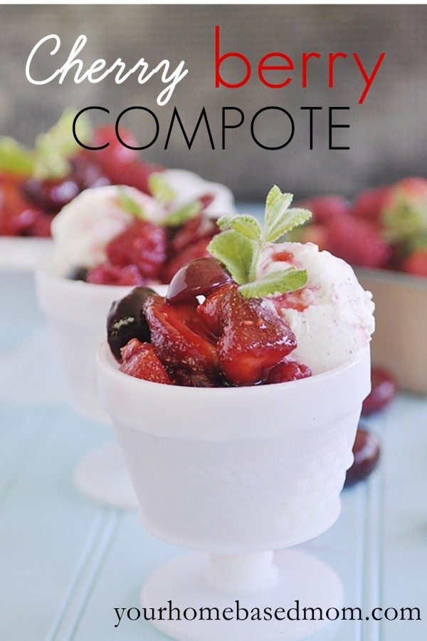 Easy Dessert Recipes ~ Cherry Berry Compote | Find this recipe from YourHomeBased Mom and more on TodaysCreativeLIfe.com