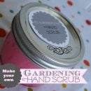 diy gardening hand scrub | TodaysCreativeBlog.net