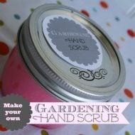 diy gardening hand scrub | TodaysCreativeBlog.net