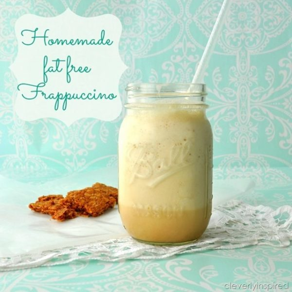 Frappuccino Recipe | Here's your homemade frappuccino recipe to make anytime you'd like! Cleverly Inspired shared on Today's Creative LIfe
