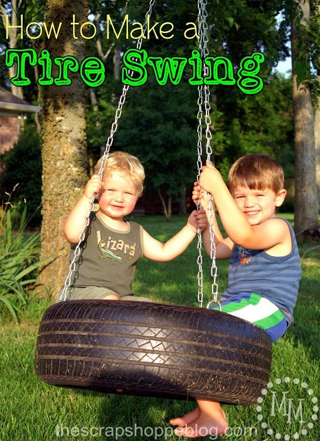 How To Make A Tire Swing | TodaysCreativeLife.com