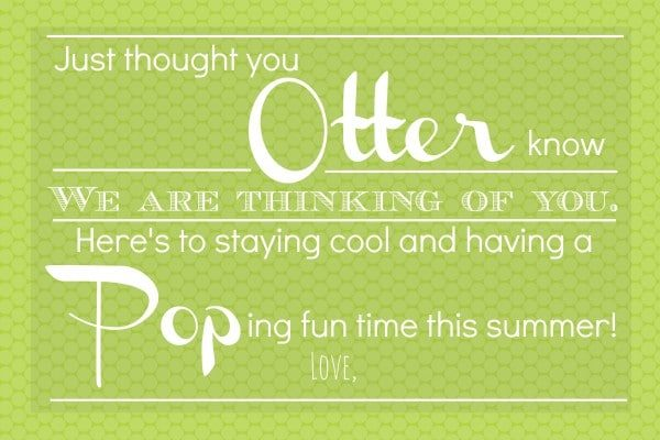 Summer Otter Pops Gift Idea with a free printable label. Summer gift idea | Somewhat Simple for TodaysCreativeLife.com