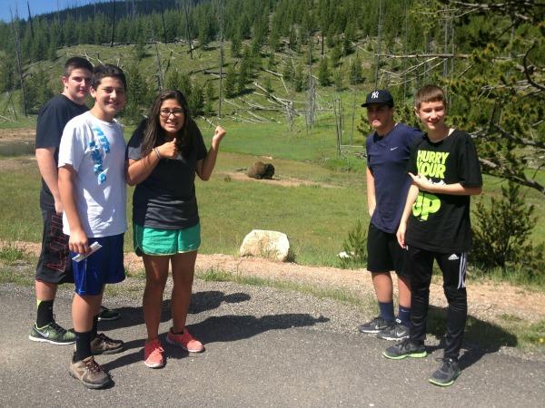 family travel Yellowstone