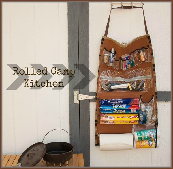 camp kitchen organizer | EAsy Sewing project on TodaysCreativeLife.com
