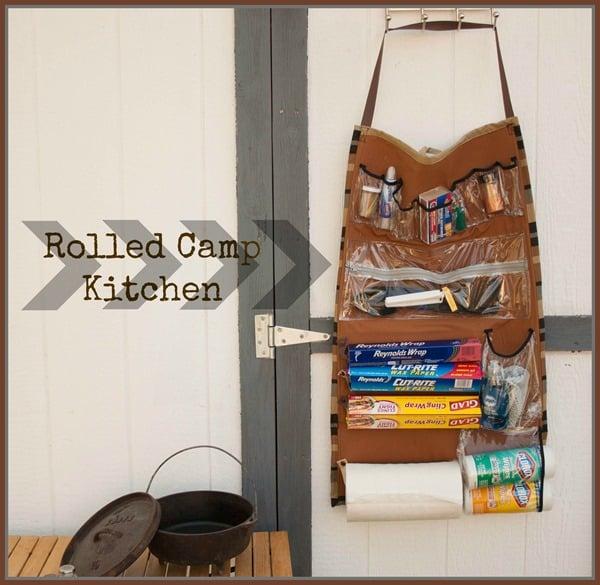 camp kitchen organizer - Roll up Portable Kitchen