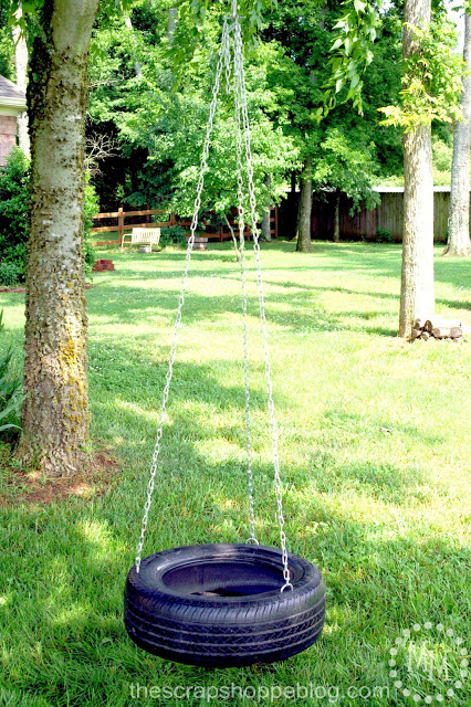 How to Make a Tire Swing Tutorial | TodaysCreativelife.com