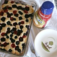 Sweet Cream Triple Berry Cobbler