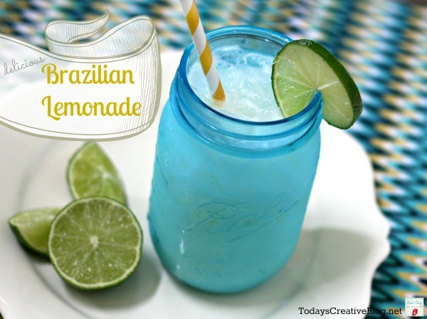 Brazilian Lemonade Drink Recipe - TodaysCreativeLife.com