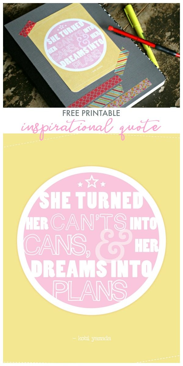 Printable Quote | Free Printable Inspirational Quote for paper crafting, wall art, gift wrap etc.. | InspirationMadeSimple for TodaysCreativeLife.com
