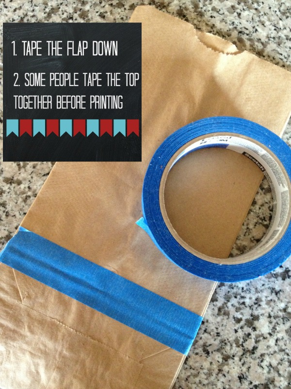 how to print on lunch sacks
