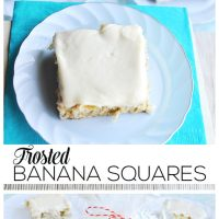 Frosted Banana Squares