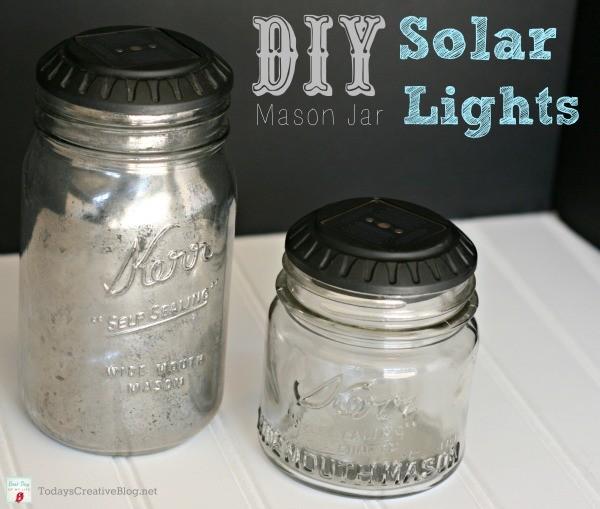 DIY Mason Jar Solar LIghts | TodaysCreativeBlog.net