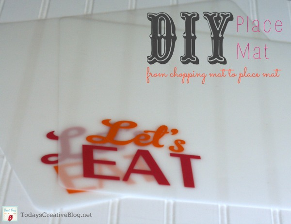 DIY Placemats | TodaysCreativeBlog.net