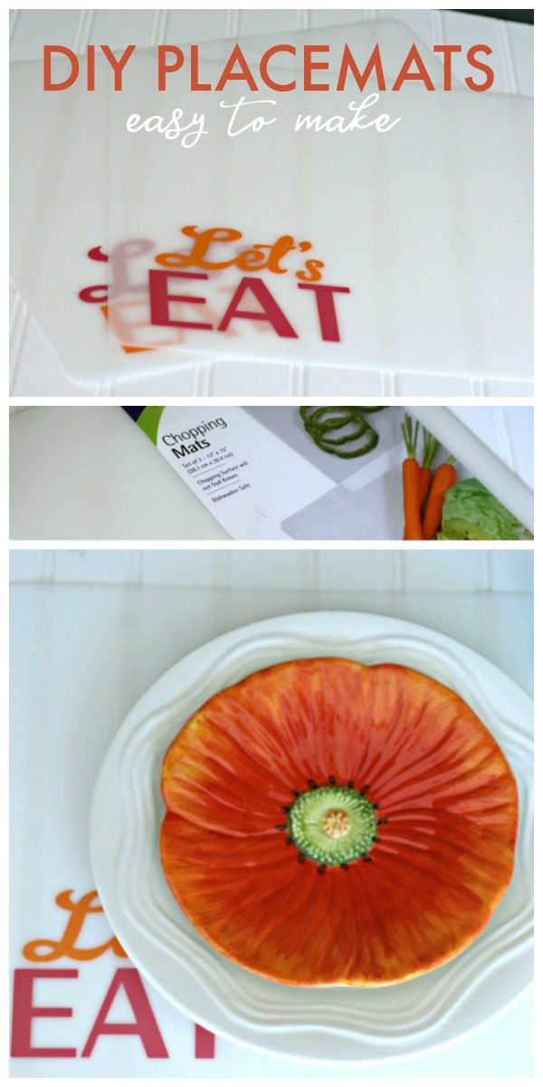 DIY Placemats using a Plastic Cutting Mat | Cricut Crafts | Easy DIY Crafts | Placemats for the patio or camping | TodaysCreativeLife.com