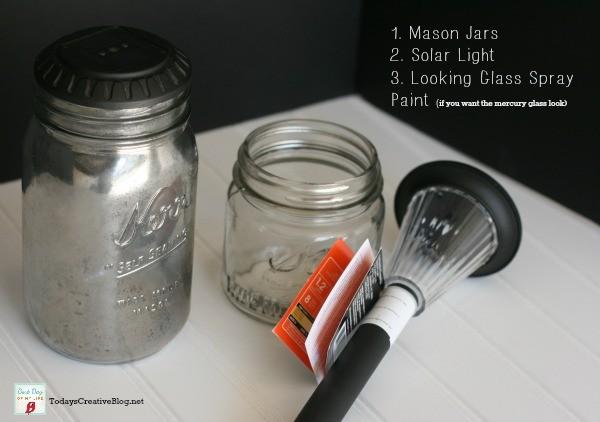 diy mason jar solar lights | TodaysCreativeLIfe.com