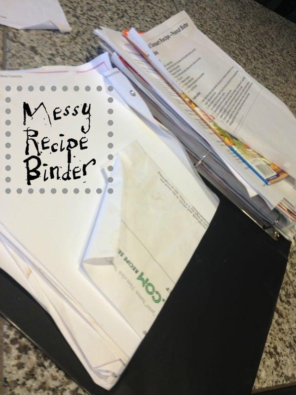 messy recipe binder