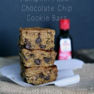 Cookie Bar Recipe {Vanilla Rich Pumpkin Pecan Chocolate Chip Cookie Bars}