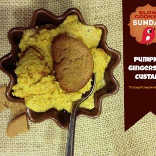 Crock Pot Gingersnap Pumpkin Custard