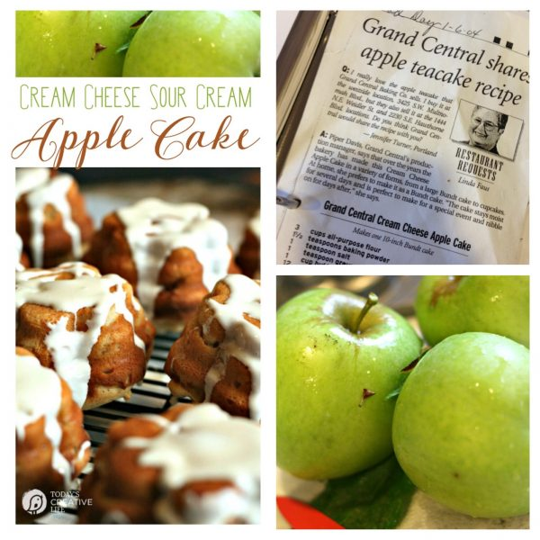Cream Cheese Sour Cream Apple Cake | TodaysCreativeLife.com