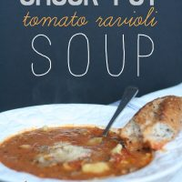 Crock Pot Tomato Ravioli Soup