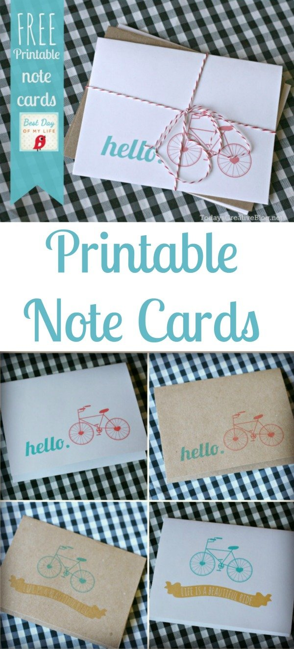 Printable Note Cards FREE | TodaysCreativeBlog.net