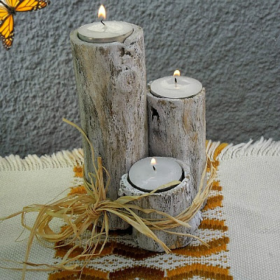 Branch candles from  http://withablast.com/