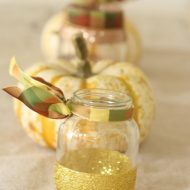 DIY Glittered Jars