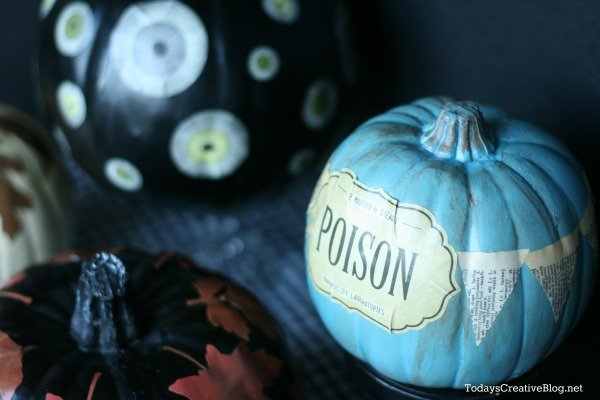 No Carve Decoupage Pumpkins