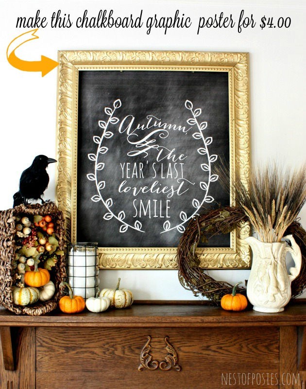 Fall-Harvest-Chalkboard-Mantel-001 Kellie from Nest of Posies