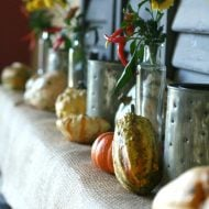 Decorating your Fall Mantel